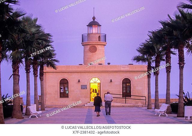 Lighthouse,Roquetas de Mar.Almeria province, Andalucia, Spain