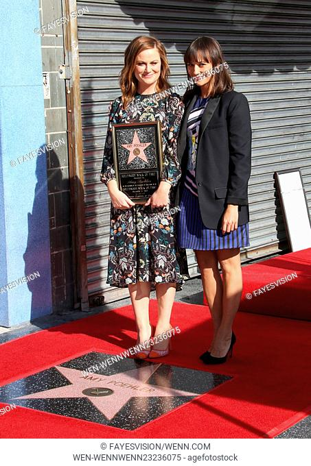 Amy Poehler honored with a star on the Hollywood Walk Of Fame Featuring: Amy Poehler, Rashida Jones Where: Hollywood, California