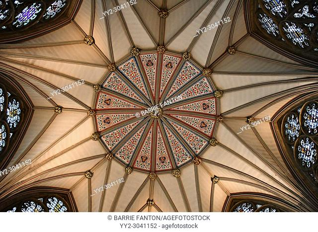 Chapter House Ceiling, York Minster, York, North Yorkshire, England, United Kingdom