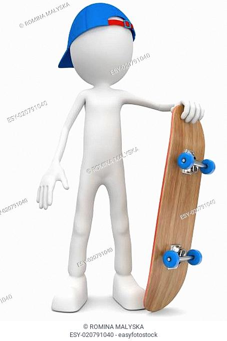 skateboarder with a board