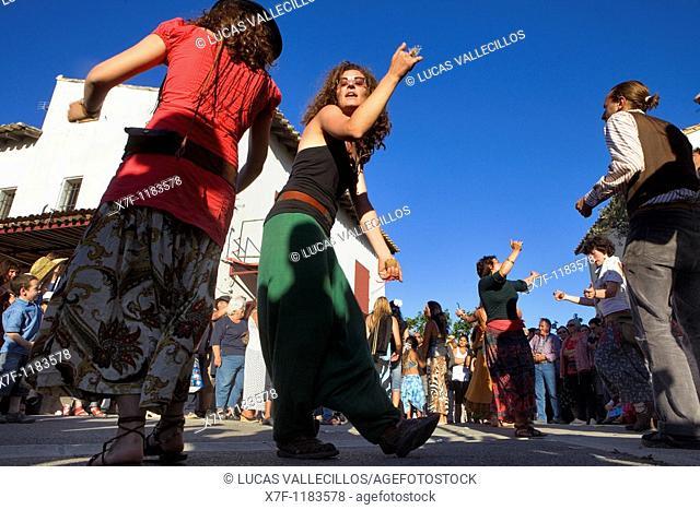 Pilgrims dancing Annual gipsy pilgrimage at Les Saintes Maries de la Mer may,Camargue, Bouches du Rhone, France