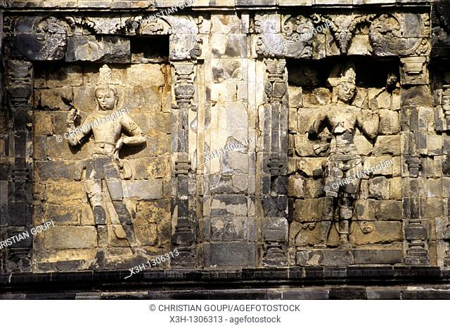Sari Shrine, Prambanan Hindu Temple compound in Java island, Greater Sunda Islands, Republic of Indonesia, Southeast Asia and Oceania