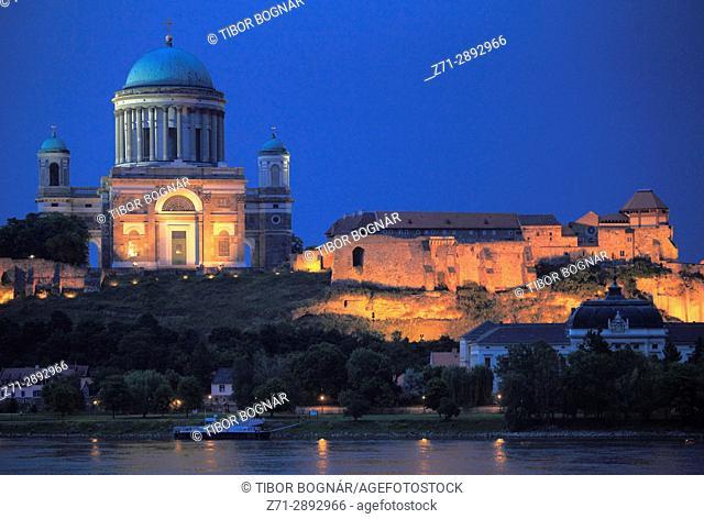 Hungary, Esztergom, Basilica, Royal Castle, Danube River