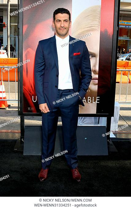 Premiere of 'Unforgettable' at TCL Chinese Theater IMAX - Arrivals Featuring: Simon Kassianides Where: Los Angeles, California