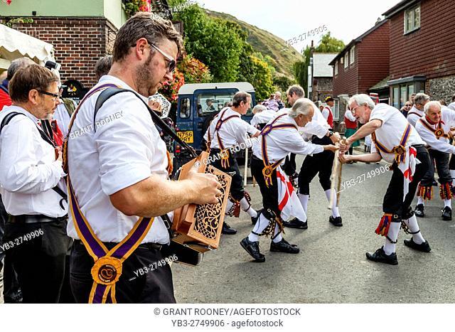 Brighton Morris Men Performing At Lewes Folk Festival 2016, Lewes, Sussex, UK