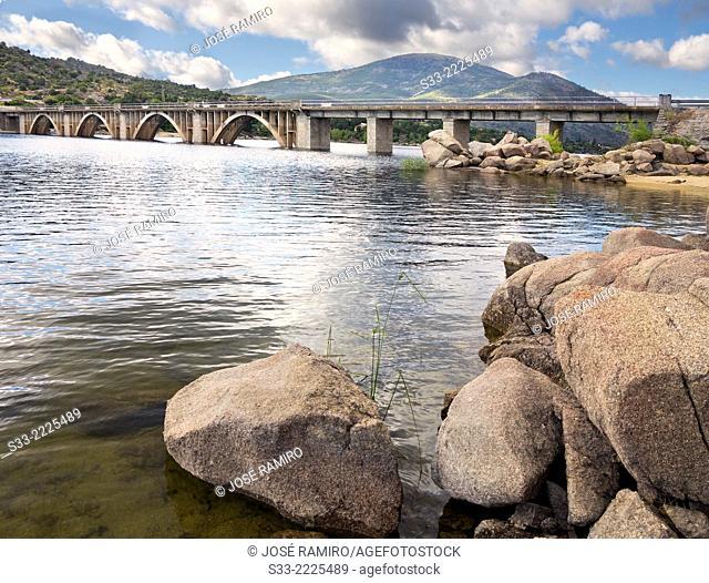 Gaznata bridge over Burguillo reservoir. Avila. Castilla Leon. Spain