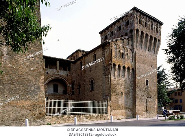 Glimpse of Rocche Castle, Finale Emilia, before the 2012 earthquake, Emilia-Romagna. Italy, 15th century