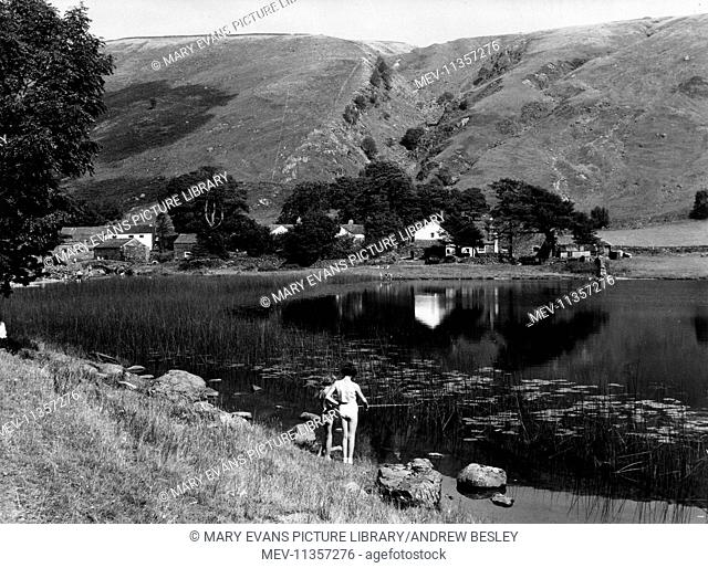 View of Trout Beck, a stream in the Lake District, Cumbria