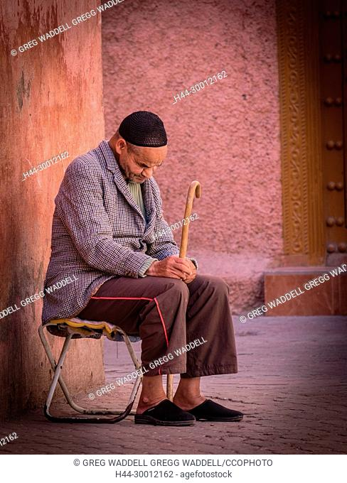 Moroccan man taking an afternoon nap Morocco Africa