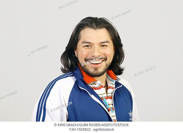 Studio shot of Mexican man