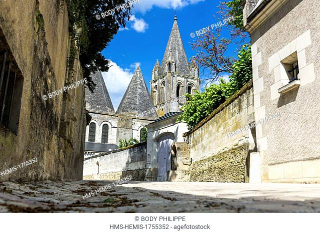 France, Indre et Loire, Loches, the collegiate church Saint Ours roman and gothic style, dated 11th and 12th century