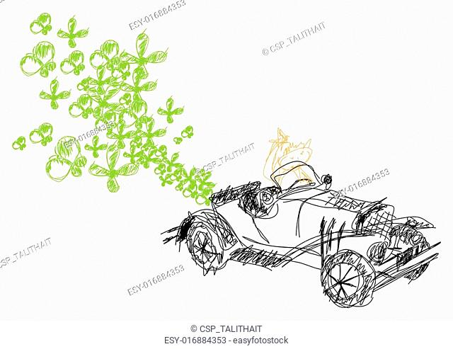 vector ecological car