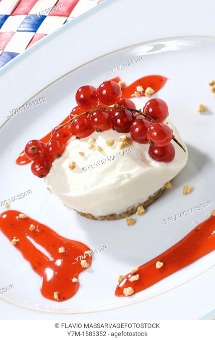 mini cheesecake with ribes berries