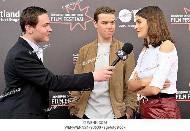 Stars turn up on the red carpet for the World Premiere of Kids In Love Featuring: Will Poulter, Alma Jodorowsky Where: Edinburgh, Lothian