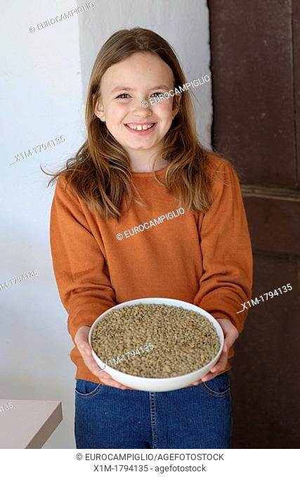 Young girl, food concept