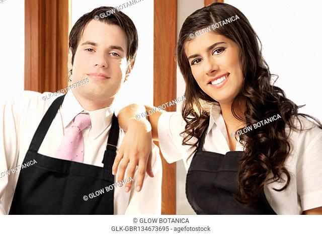 Portrait of a couple smiling