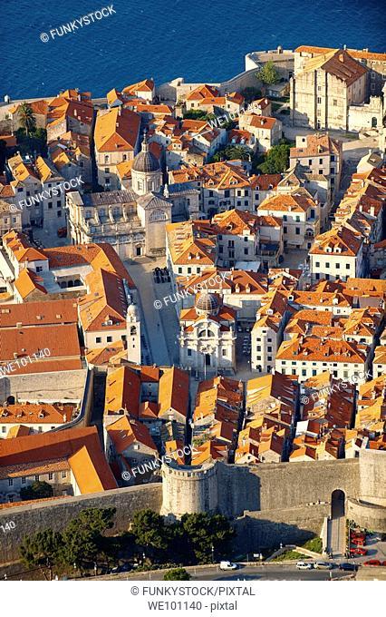 Arial view of Dubrovnik old town - Croatia