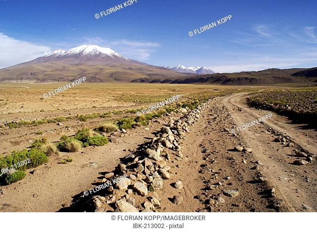 Landscape with Vulcane in the Uyuni Highlands, Bolivia