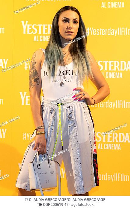 Beba during the photocall of film ' Yesterday ' in Milan, ITALY-20-06-2019