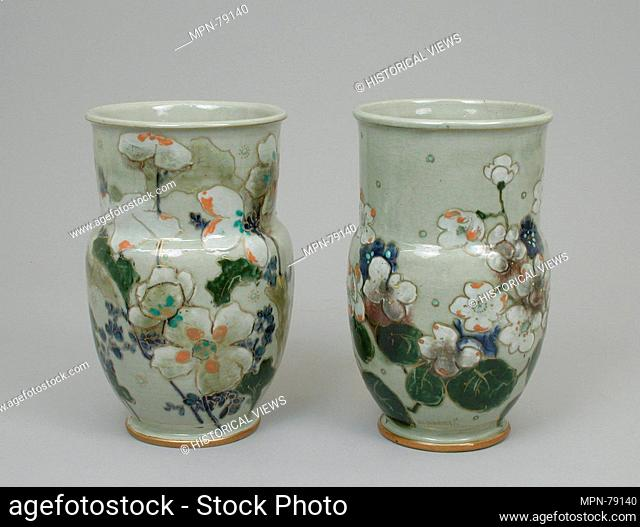 Pair of vases. Decorator: Édouard-Alexandre Dammouse (French, 1850-1903); Manufactory: Haviland & Co. (American and French, 1864-1931) (rue Blomet studio
