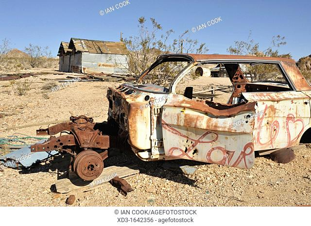 abandoned 1960s Chevrolet Impala, Rhyolite Ghost Town, Nevada, USA