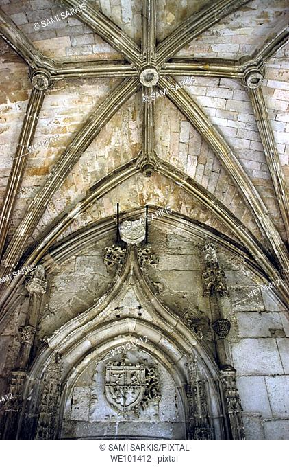 Old stone cloisters at Cahors Cathedral, Cahors, Lot, France