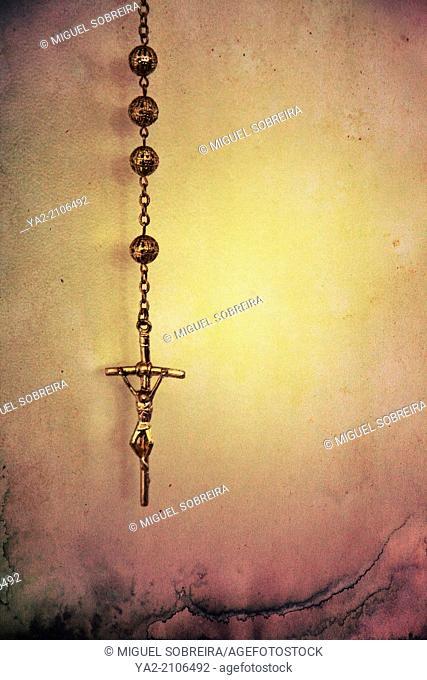Crucifix on Chain Against Heat