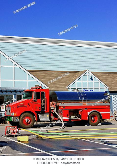 fire engine, Wiscasset, Maine, USA