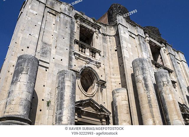 Church of San Nicolò l'Arena, Catania, Sicily, Italy