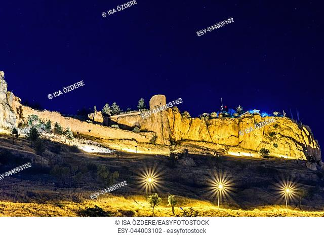 Night view of Mardin Castle in Mardin city,a popular city for locals and tourist and located in Turkey
