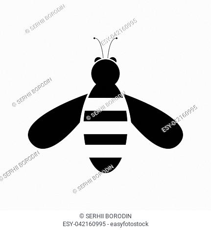 Bee it is black color icon