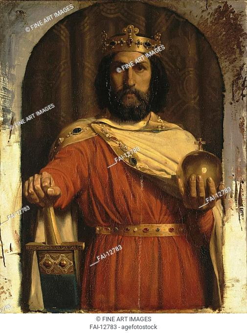 Charles the Great, King of the Franks. Meissonier, Ernest Jean Louis (1815-1891). Oil on canvas. Neoclassicism. c. 1840. State Hermitage, St