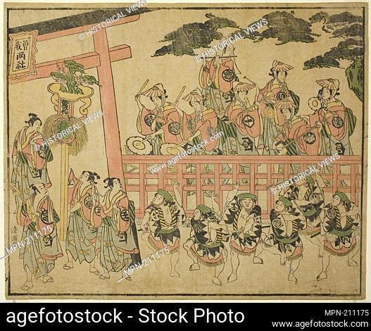 The Soga Festival - c. 1768 - Torii Kiyomitsu I Japanese, 1735-85 - Artist: Torii Kiyomitsu I, Origin: Japan, Date: 1763–1773