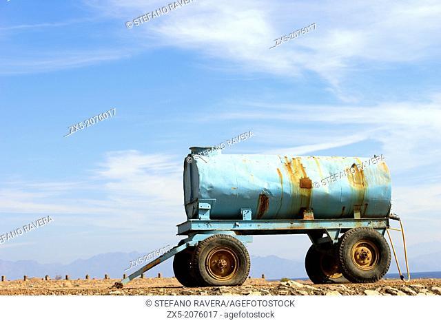 Water tank trailer - Dahab, Sinai Peninsula, Egypt