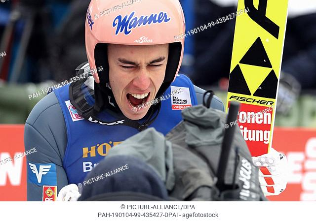 04 January 2019, Austria, Innsbruck: Nordic skiing / ski jumping: World Cup, Four Hills Tournament Großschanze, Men, 1st round
