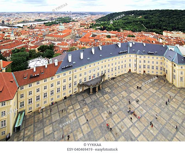 Third courtyard of Prague Castle (view from Saint Vitus Cathedral)