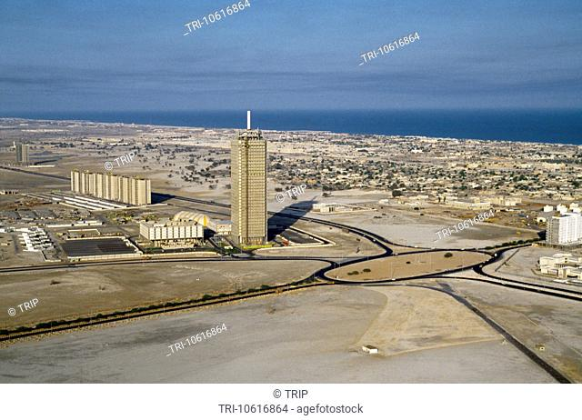 Dubai UAE Aerial Of The Trade Centre And Sheikh Zayed Road In 1978