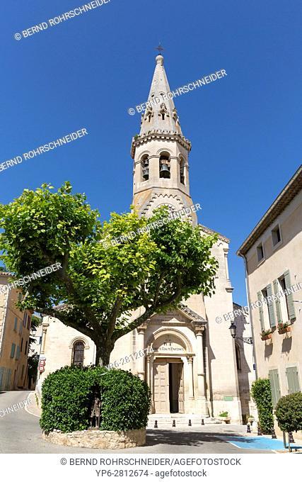 church in Saint-Saturnin-lès-Apt, Luberon, Vaucluse, Provence, France