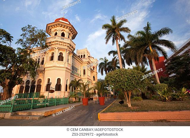 Early morning sun at the Palacio De Valle -Valle's Palace In Punta Gorda, Cienfuegos, Cuba, West Indies, Central America