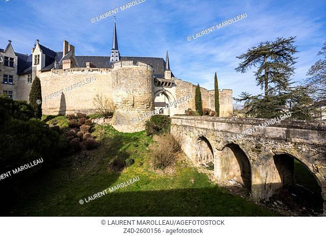 Castle of Montreuil Bellay, Maine et Loire Department, Pays de la Loire Region, Loire Valley, France, Europe