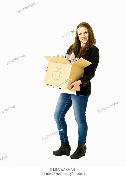 Paper Recycling woman