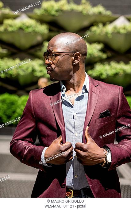 Portrait of stylish businessman