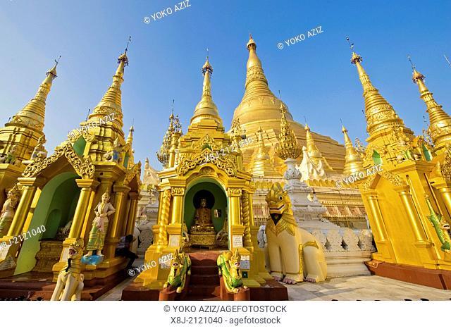 Myanmar, Yangon, Shwedagon Paya