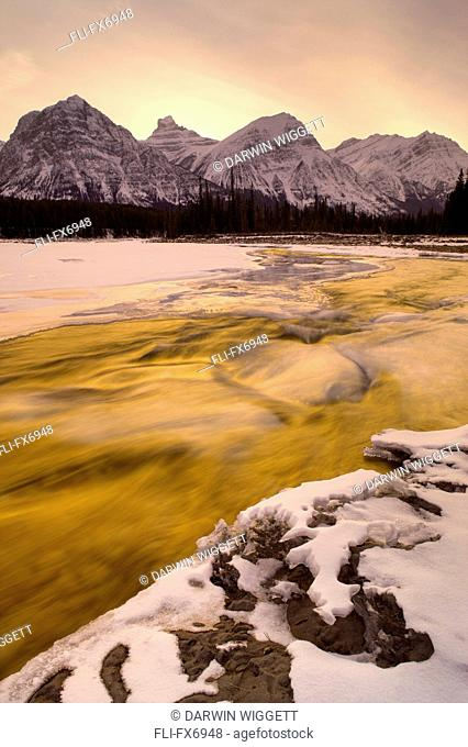 Athabasca River and Mt Fryatt, Jasper National Park, Alberta