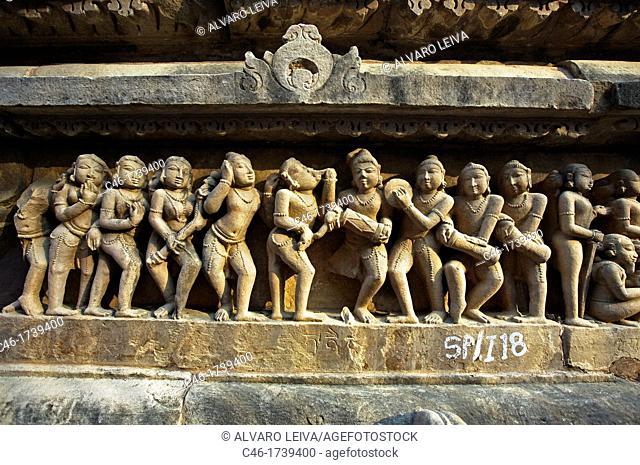 Lakshmana Temple dedicated to Vishnu is built by chandella ruler Vasovarman Between 930-950 AD, Khajuraho, Madhya Pradesh, India, Asia