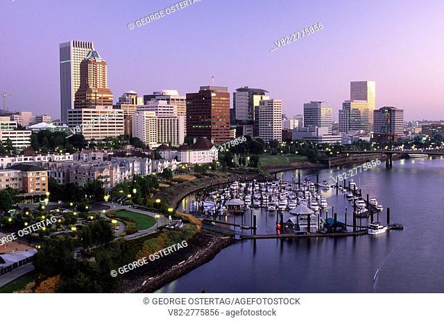 Downtown from Marquam Bridge, Portland, Oregon