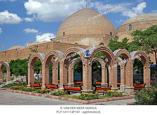 Blue Mosque in the city Tabriz, East Azerbaijan, Iran