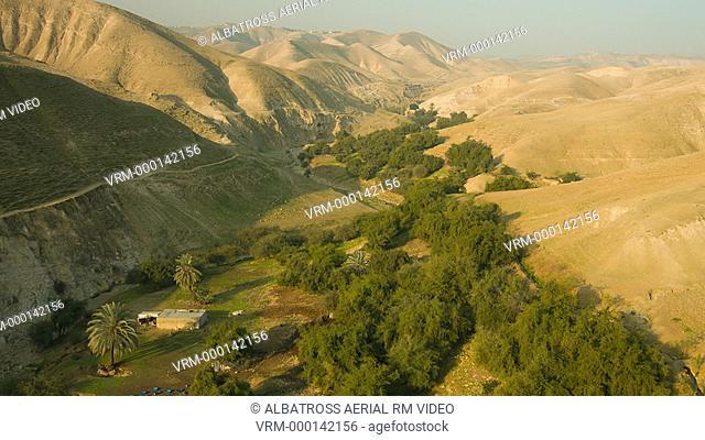 Israel Judean Desert Cliff Aerial Birds Eye View