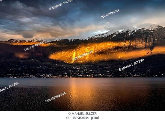 Sunset at lake Garda, Limone sul Garda, Lombardia, Italy