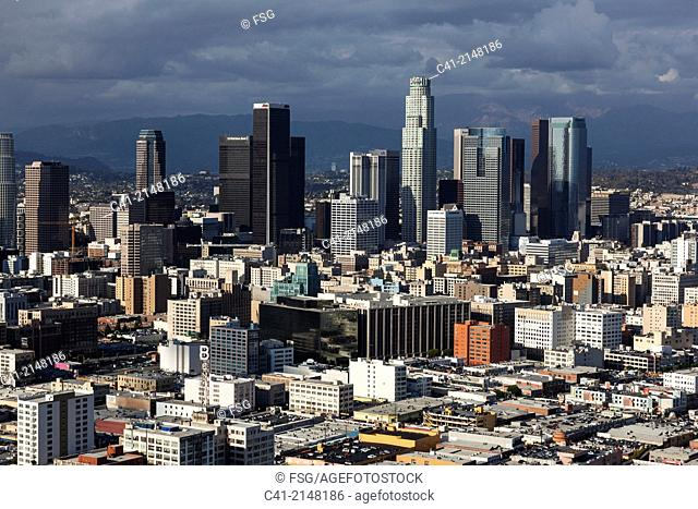 Aerial view of downtown Los Angeles. California, USA